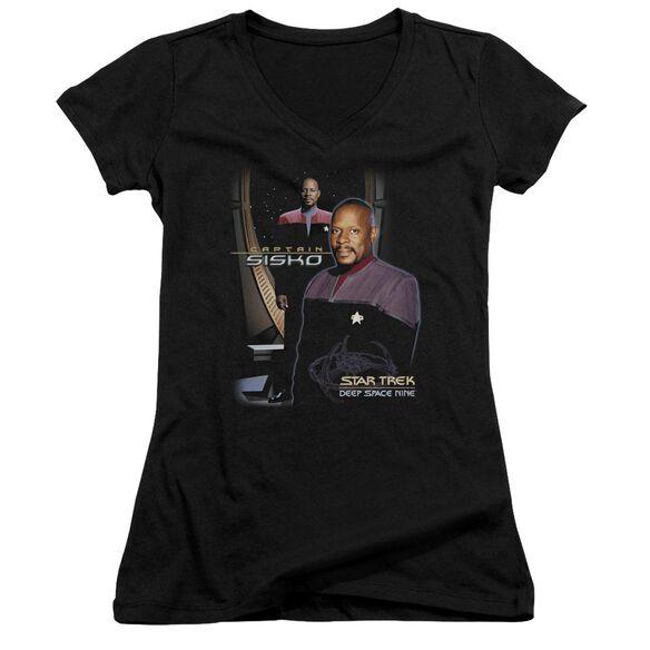 Star Trek Captain Sisko Junior V Neck T-Shirt