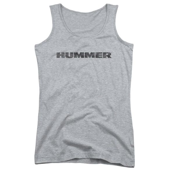 Hummer Distressed Hummer Logo Juniors Tank Top Athletic