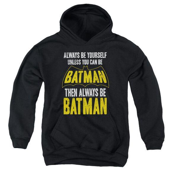 Batman Be Batman Youth Pull Over Hoodie