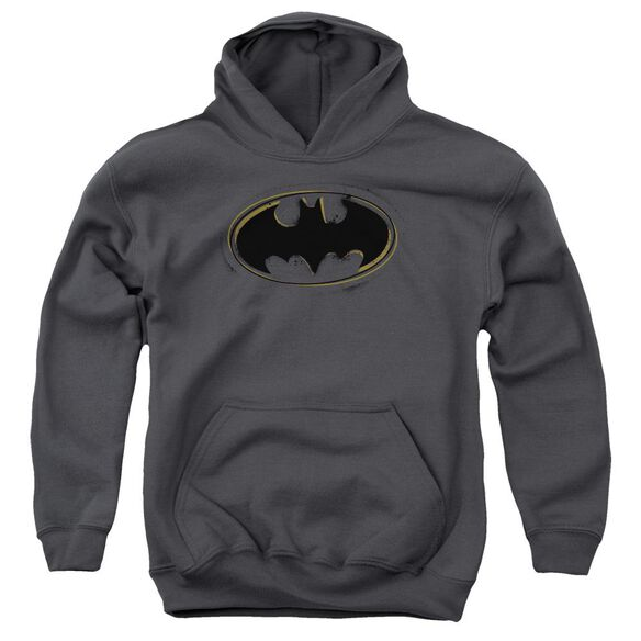 Batman Spray Paint Logo Youth Pull Over Hoodie