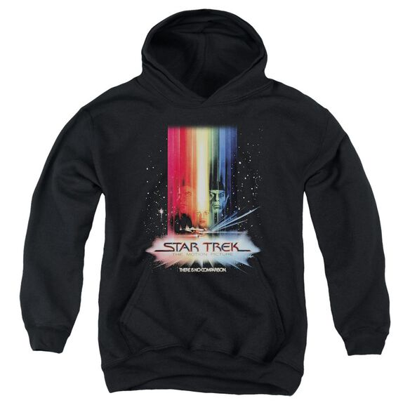 Star Trek Motion Picture Poster-youth Pull-over Hoodie - Black
