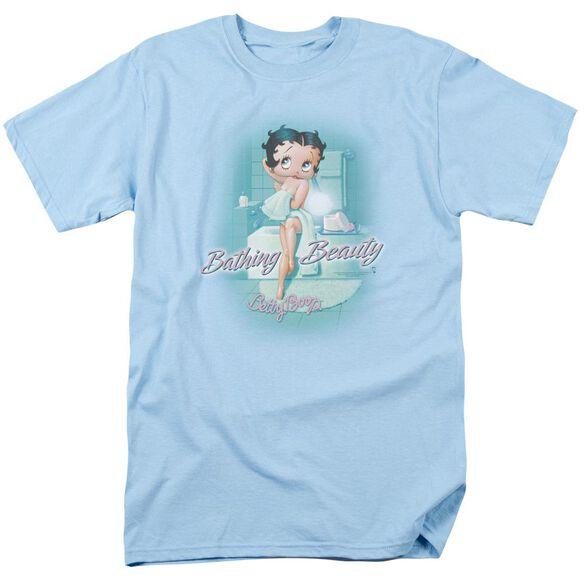 Betty Boop Bathing Beauty Short Sleeve Adult Light Blue T-Shirt