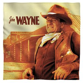 John Wayne Old West Bandana White