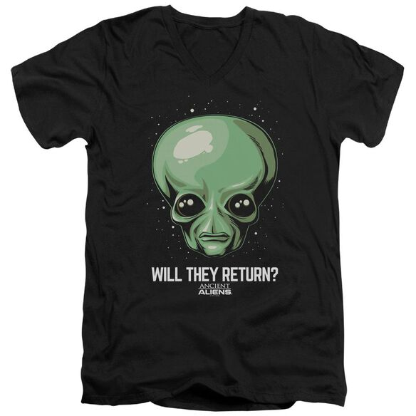 Ancient Aliens Will They Return Short Sleeve Adult V Neck T-Shirt