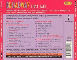 - Broadway First Take, Vol. 2: Promises, Promises; Flower Drum Song; La Cage aux Folles
