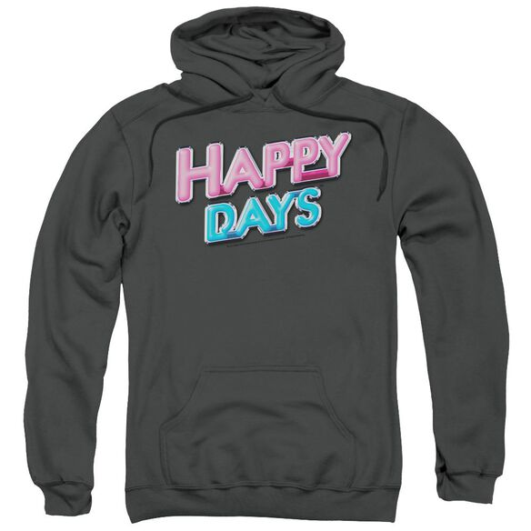 Happy Days Happy Days Logo Adult Pull Over Hoodie