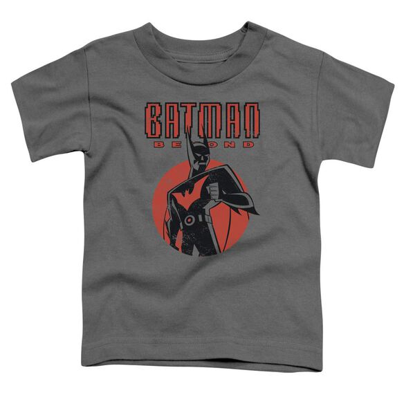 Batman Beyond Iconic Pose Short Sleeve Toddler Tee Charcoal T-Shirt