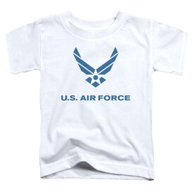 Air Force Distressed Logo Short Sleeve Toddler Tee White T-Shirt