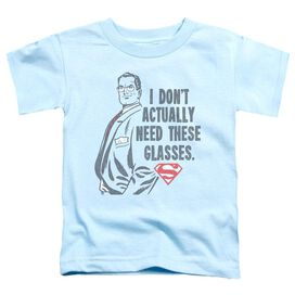 Superman Don't Need Glasses Short Sleeve Toddler Tee Light Blue Lg T-Shirt