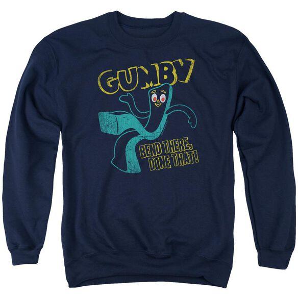 Gumby Bend There Adult Crewneck Sweatshirt