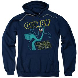 Gumby Bend There Adult Pull Over Hoodie
