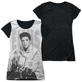 Elvis Play Me A Song Short Sleeve Junior Poly Black Back T-Shirt