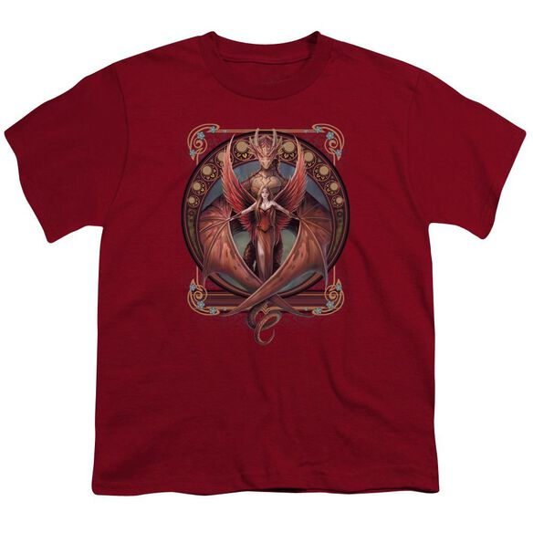 Anne Stokes Copperwing Nouveau Short Sleeve Youth T-Shirt