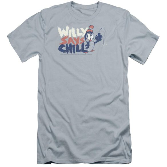 Chilly Willy I Say Chill Premuim Canvas Adult Slim Fit Light