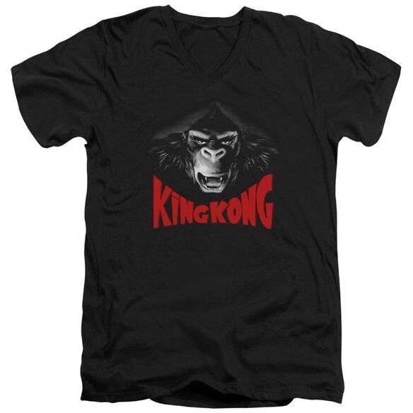 King Kong Kong Face Short Sleeve Adult V Neck T-Shirt