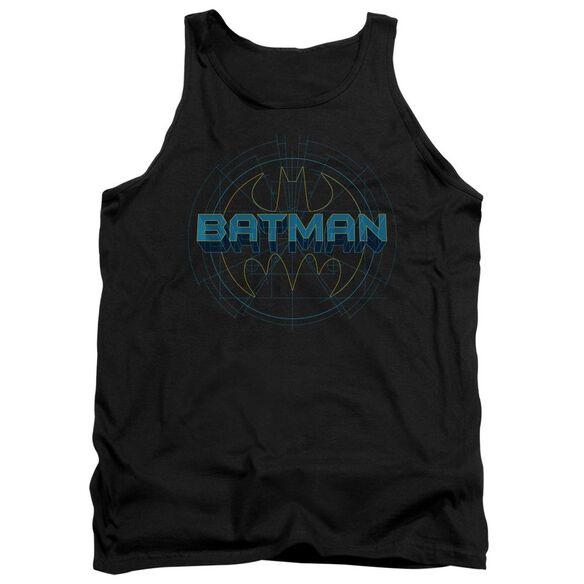 Batman Bat Tech Logo - Adult Tank - Black