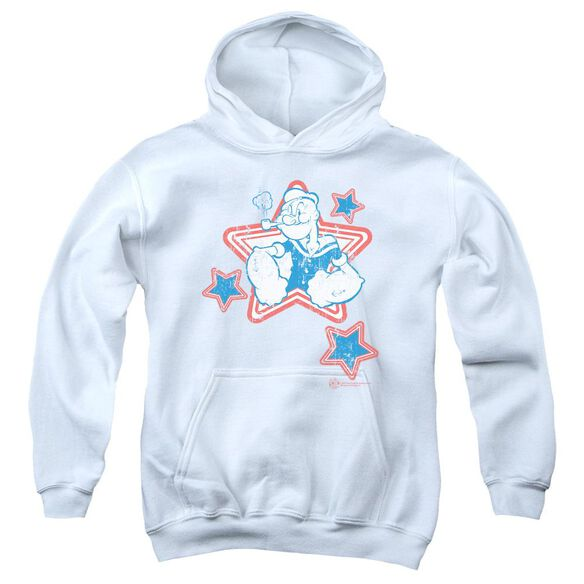 Popeye Stars Youth Pull Over Hoodie