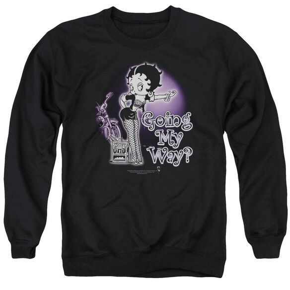 Betty Boop My Way Adult Crewneck Sweatshirt