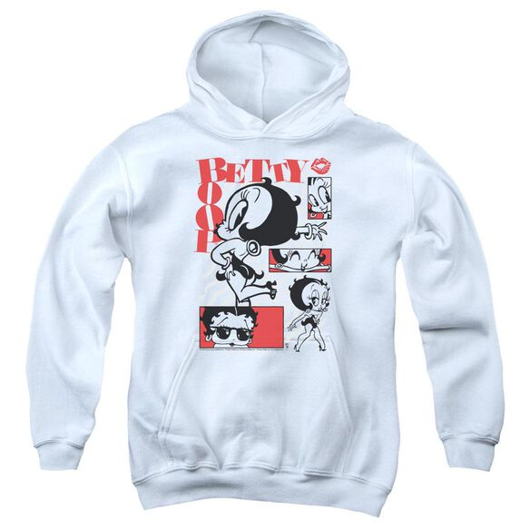 Betty Boop Stylin Snaps Youth Pull Over Hoodie