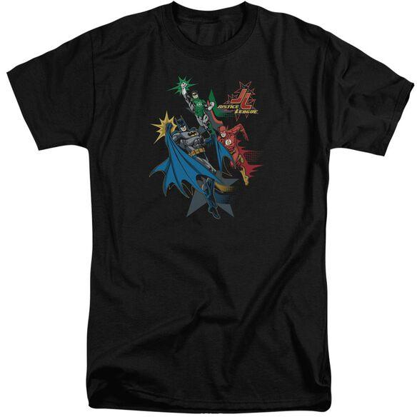 Jla Action Stars Short Sleeve Adult Tall T-Shirt