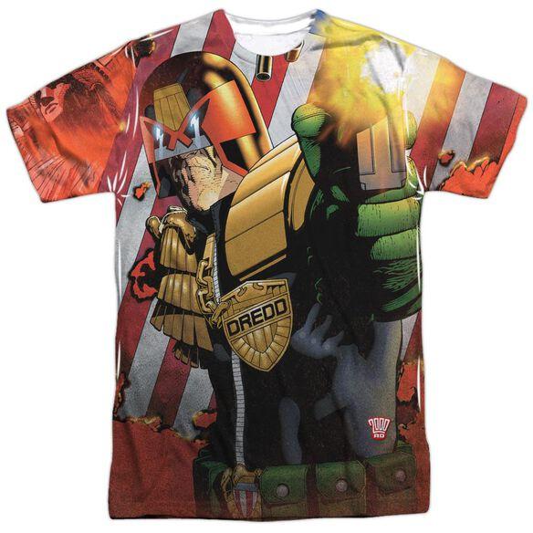 Judge Dredd Democracy Short Sleeve Adult Poly Crew T-Shirt