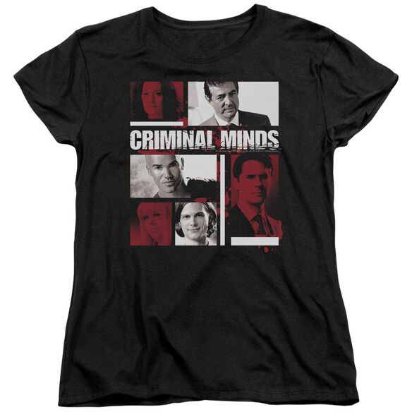 Criminal Minds Character Boxes Short Sleeve Womens Tee T-Shirt