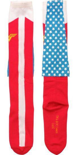 Wonder Woman Star Caped Knee High Socks