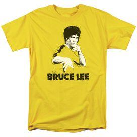 Bruce Lee Suit Splatter Short Sleeve Adult Yellow T-Shirt