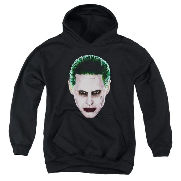 Suicide Squad Joker Head Youth Pull Over Hoodie