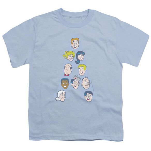Archie Comics Character Heads Short Sleeve Youth Light T-Shirt