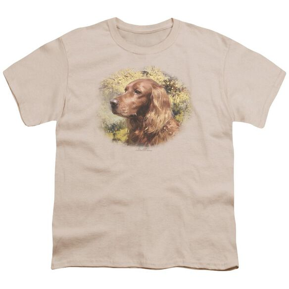 Wildlife Irish Setter Head Short Sleeve Youth T-Shirt