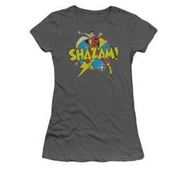Shazam Power Bolt Charcoal Juniors T-Shirt