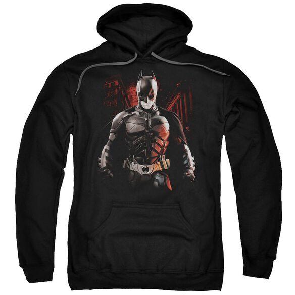Dark Knight Rises Batman Battleground Adult Pull Over Hoodie
