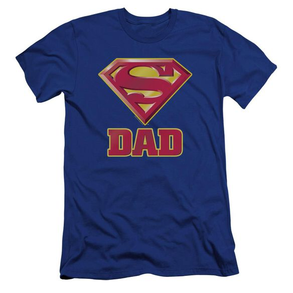 Superman Super Dad Premuim Canvas Adult Slim Fit Royal