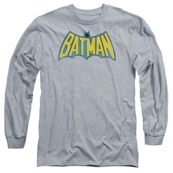 DC CLASSIC BATMAN LOGO - L/S ADULT 18/1 - ATHLETIC HEATHER T-Shirt