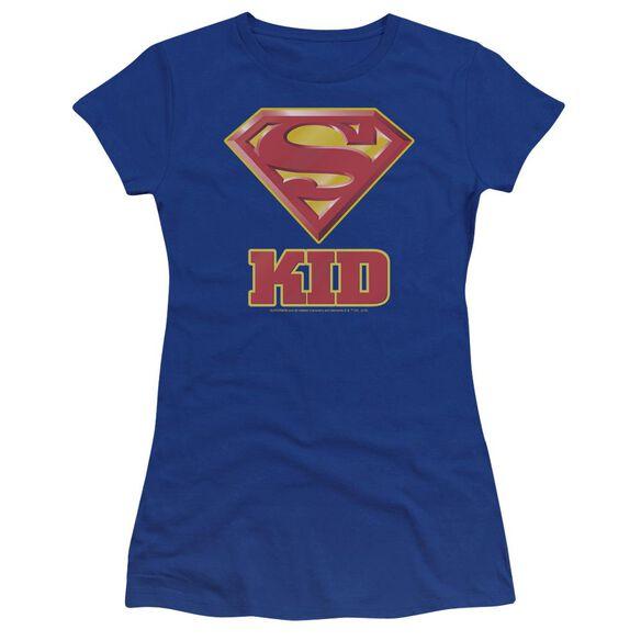 Superman Super Kid Premium Bella Junior Sheer Jersey Royal