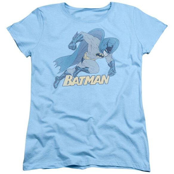 Batman Running Retro Short Sleeve Womens Tee Light T-Shirt