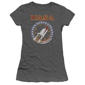 Nasa Retro Shuttle Short Sleeve Junior Sheer T-Shirt