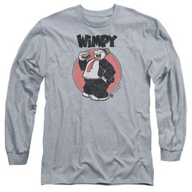 Popeye Wimpy Long Sleeve Adult Athletic T-Shirt