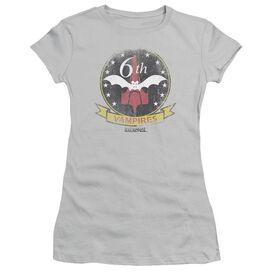 Bsg Vampires Badge Short Sleeve Junior Sheer T-Shirt