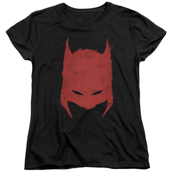 BATMAN HACKED & SCRATCHED - S/S WOMENS TEE - BLACK T-Shirt