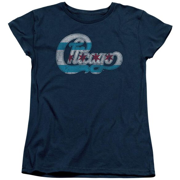 Chicago Flag Logo Short Sleeve Womens Tee T-Shirt