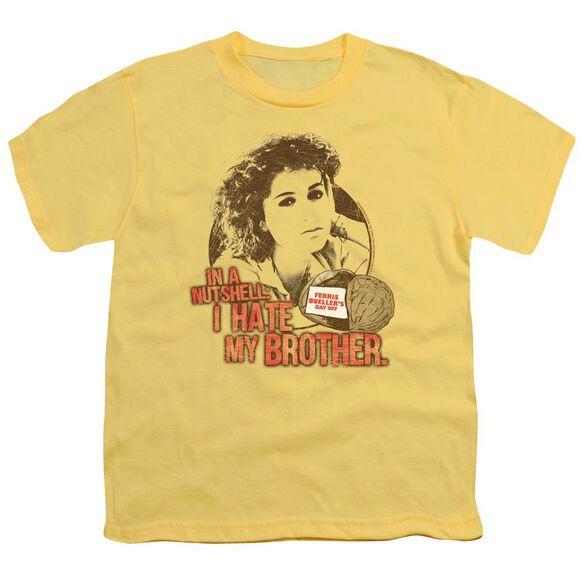 Ferris Bueller Nutsheel Short Sleeve Youth T-Shirt
