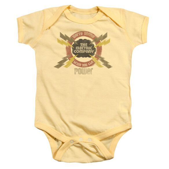 Electric Company Power Infant Snapsuit Banana