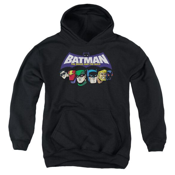 Batman Bb Head Lineup Youth Pull Over Hoodie