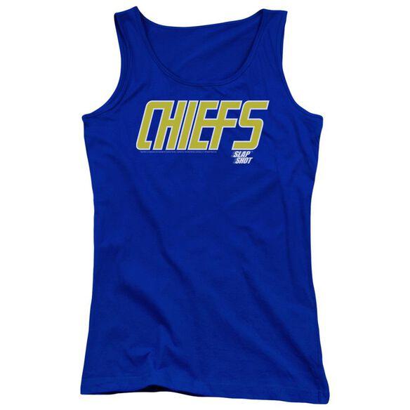 Slap Shot Chiefs Logo Juniors Tank Top Royal