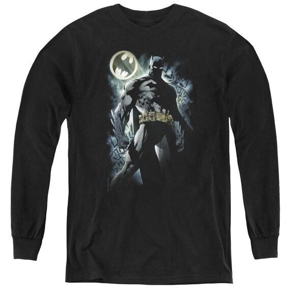Batman The Knight - Youth Long Sleeve Tee - Black