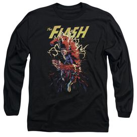 Jla Ripping Apart Long Sleeve Adult T-Shirt
