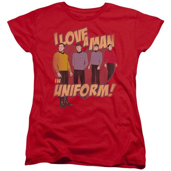 Star Trek Man In Uniform Short Sleeve Womens Tee T-Shirt