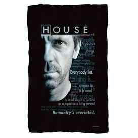 House Houseisms Fleece Blanket